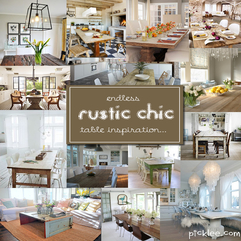 14 Fabulous Rustic Chic Dining Tables Inspiration Picklee - Karbonix