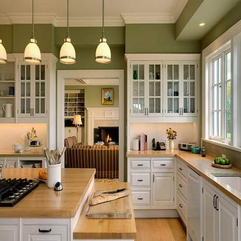 2014 Colors With Wooden Countertop Kitchen Paint - Karbonix