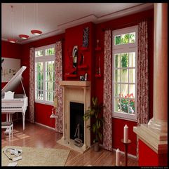 28 Red And White Living Rooms - Karbonix