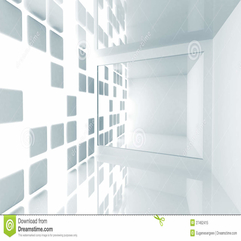 Abstract Architecture Empty White Modern Interior Royalty Free - Karbonix