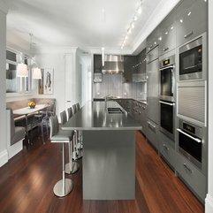 Best Inspirations : Adorable Purple Contemporary Kitchen Cabinets Design - Karbonix