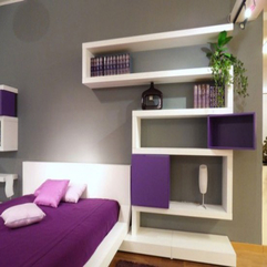 Adorable Purple Walls Bedroom Design - Karbonix