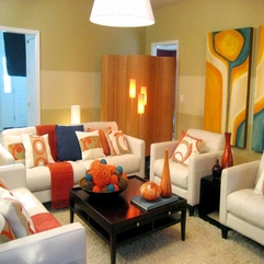 Amazing Modern Modern Living Room With Orange Color - Karbonix