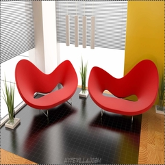 Amazing Modern Modern Living Room With Red Color - Karbonix