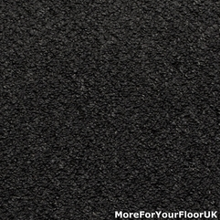 Anthracite Black Dark Grey Hardwearing Feltback Carpet - Karbonix