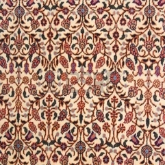 Antique Handmade Oriental Carpet Made With Natural Root Colors - Karbonix