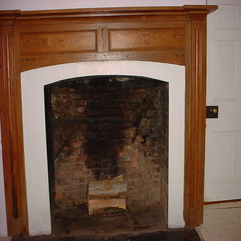 Antique Woodframe Fireplace Old Cooking Fireplace Crane Design - Karbonix