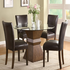 Apartment Charming Simple Dining Room Ideas With Leather Chair - Karbonix