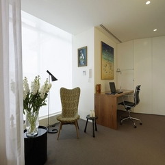 Apartment Design By Christopher Polly Architect Office Room - Karbonix