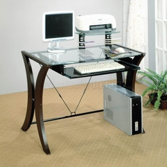 Best Inspirations : Apartment Great Glass Office Desk Minimalis Concept With Dark - Karbonix