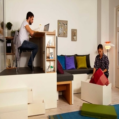 Appliances Adorable Mini Workplace With Living Sofa For Apartment - Karbonix