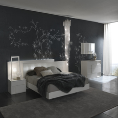 Appliances Charming Black Bedroom Design With Branches Painted - Karbonix