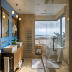 Appliances Divine Beach Theme Bathroom Design With Aqua Blue - Karbonix