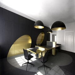 Best Inspirations : Appliances Wonerful Black And Gold Charming Home Office Interior - Karbonix