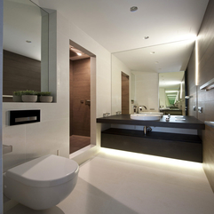 Architecture Black Wooden Vanities Modern Apartment Bathroom - Karbonix
