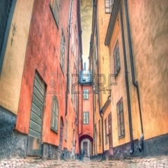 Architecture Charming Street Of Stockholm Royalty Free Stock - Karbonix