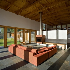 Architecture Comfortable Family Room Inside House In Madalena - Karbonix