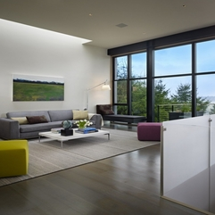 Architecture Fancy Living Room With Floor To Ceiling Glass Window - Karbonix