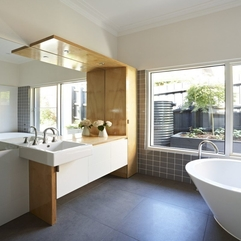 Architecture Gorgeous Kew House Bathroom Design With Oval Bath - Karbonix