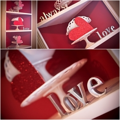 Architecture Lovely Valentine Decoration With Silver Love Letter - Karbonix
