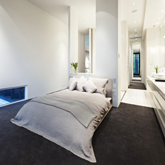 Architecture Modern White Master Bedroom Interior Decoration - Karbonix
