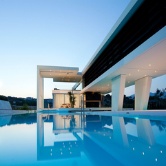Architecture Outdoor Pool Lighting Ideas For Modern Block House - Karbonix