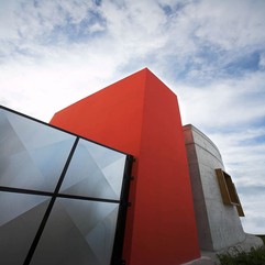 Architecture Red Building Home Design The Marvelous Contemporary - Karbonix