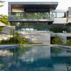 Architecture Sensational Pool View With Natural Green Landscaping - Karbonix
