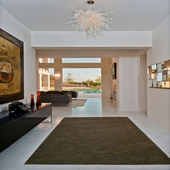 Architecture Spacious Hallway Interior Of Spanish Oaks Residence - Karbonix