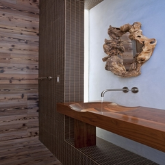 Architecture Striking Bathroom VVanity Made From Wooden Material - Karbonix
