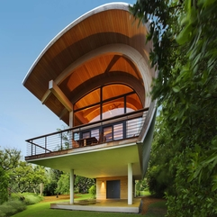 Architecture Wonderful Wood Round Roof With Elegant Beam Exposed - Karbonix