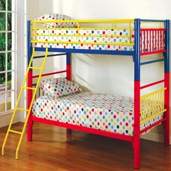 Attractive And Colorful Bedroom Design For Twin Girls With Simple - Karbonix