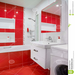 Attractive Design Bathroom With Washing Machine - Karbonix