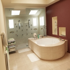 Awesome Bathroom Design In Neutral Cream Color With Deep Br 12515 - Karbonix