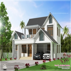Awesome Modern Villa Exterior Elevation House Design Plans - Karbonix