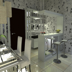 Bar Interior Design Black White - Karbonix