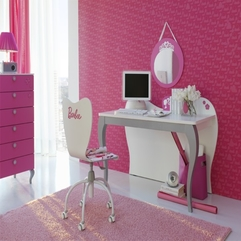 Barbie Princess With White Furniture Study Desk - Karbonix