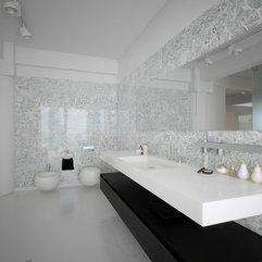 Bath Design White Creative Modern - Karbonix
