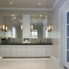 Bathroom Artistic Bathroom Interior With Marble White Cabinets - Karbonix