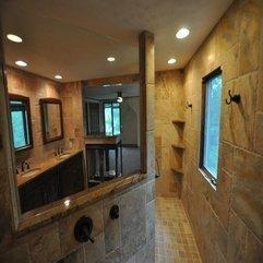 Bathroom Astonishing Bathroom Design Ideas With Travertine Tile - Karbonix