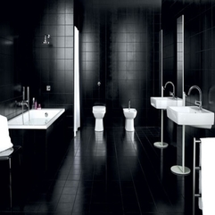 Bathroom Back In Black Bathroom Design With Full Black Glossy - Karbonix