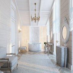 Bathroom Beautiful Classic Arts Royal White Grey Bathroom Design - Karbonix