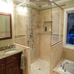 Bathroom Charming Bathroom Design Ideas With Glass Corner Shower - Karbonix