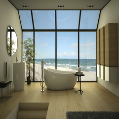 Bathroom Design With Amazing Ocean Scenery Luxurious Relaxing - Karbonix
