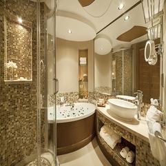 Bathroom Fascinating Luxurious Industrial Style Open Space - Karbonix