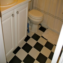 Bathroom Floor Plans Contemporary Small - Karbonix