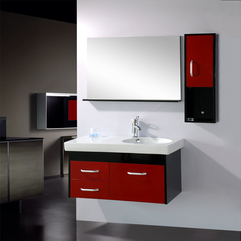 Bathroom Magnificent Luxury Bathroom Cabinets With Red Accents - Karbonix