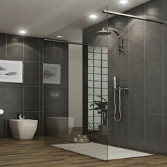 Bathroom Modern Style Glass Shower Stall Shower Stalls - Karbonix