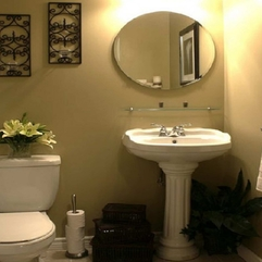 Best Inspirations : Bathroom Sensational Round Mirror With Awesome Vintage Washbasin - Karbonix