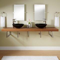 Bathroom Vanities Modern Wall Mount Vanities Teak Wall Sophisticated Bathroom - Karbonix